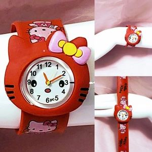 New, Hello Kitty Red Analog Slap Watch OS💋🆕